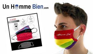 masque alternatif tissu rainbow